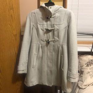 H&M wool white coat.
